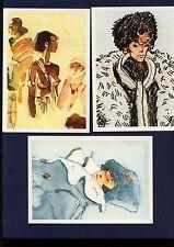 HUGO PRATT rarissima serie completa 6 cartoline - LE NUVOLE PARLANTI (anni '80)