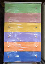 Settimino bianco mobile cassettone in melaminico montato multicolor cm 75