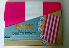 Lightweight Beach Towel Quick Dry Travel Vacation Pool Pink Striped Towel