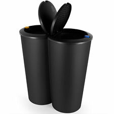 waste recycling bins with compartments ebay. Black Bedroom Furniture Sets. Home Design Ideas
