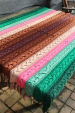 Vintage Handmade Knitted Cable Stitch Afghan/Throw