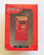 COCA-COLA MINI CLOCK VINTAGE COKE MACHINE MIB
