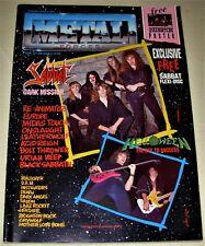 RARE Vintage 1989 METAL FORCES Magazine #39 - BLACK SABBATH,HELLOWEEN,EUROPE,