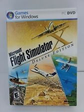 Microsoft Flight Simulator X Deluxe Edition PC Windows with Product Key, manual
