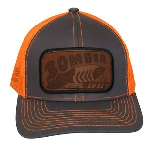 Bomber Heddon Creek Chub Lures Hat Cap Mesh Back Hook and Loop Men's Vintage