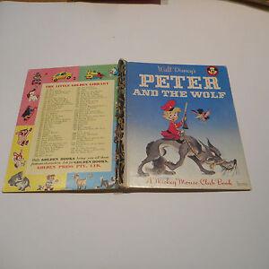 Walt Disney PETER AND THE WOLF D99 little golden book MMCB 1st 1968 SYDNEY nice