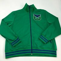 Mitchell & Ness Track Jacket Mens 3XLT XXXLT Green Full Zip Hartford Whalers