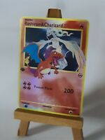 Reshiram and Charizard Glurak Proxy Custom Pokemon Card in Holo