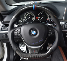 100% Real Carbon Fiber Car Steering Wheel For BMW F10 M5 F11 5 6 7 Series