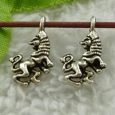 Free Ship 400pcs tibet silver lion charms 17X10mm B3709