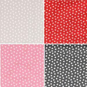 100% Cotton Poplin Fabric Ditsy Mini Love Hearts Heart 135cm Wide