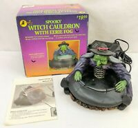 All Hallow's Eve SPOOKY WITCH CAULDRON w/ EERIE FOG Halloween Decor Prop RARE