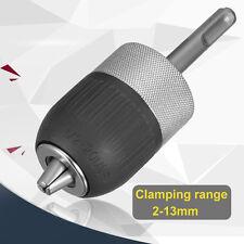 "1/2"" 3-Jaw 2-13MM Metal Keyless Impact SDS Hammer Drill Chuck Hand Tool Set"