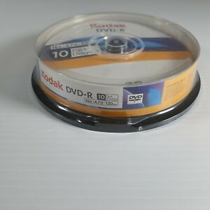 Kodak DVD R 10 Pack 16x 4.7GB 120 Mins  Blank New and Sealed Video Recordable