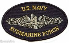 "NAVY SUBMARINE FORCE SILVER DOLPHINS  MILITARY  ENLISTED 4"" EMBROIDERED PATCH"