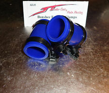 Yamaha Banshee exhaust pipe clamps all years fmf,dg, Factory (BLUE)