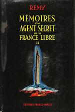Livre mémoires d'un agent secret de la France libre Tome 2
