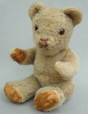 Invicta UK Teddy Bear 1940s Taupe Wool Plush 13in Glass Eyes Velvet Pads Jointed