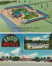 2 - Vintage Postcards - Roadside Motels in Orangeburg SC