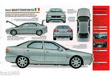 1996/1997/1998/1999 Maserati Quattroporte Spec Blatt/ Broschüre/ Fotos