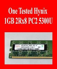 Tested Hynix 1GB 2Rx8 PC2-5300U-555-12 Desktop Memory stick