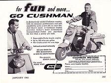 1961 CUSHMAN SCOOTER  ~  VERY RARE ORIGINAL AD
