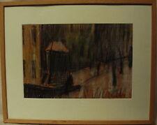 Eve Eriksson 1910-1992, Parkszene, Pastell, um 1950