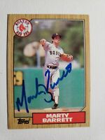 1987 Topps Marty Barrett Autograph Card Auto Red Sox Signed #39