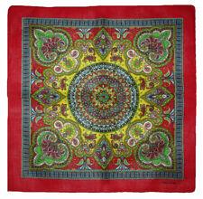 "Wholesale Lot 12 (1 Dozen) 22""x22"" Ornate Paisley Mosaic Red Border Bandana"