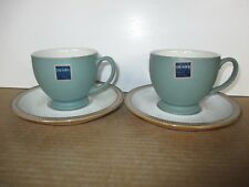 Denby Luxor 2 x Teacups and Saucers New First Quality Excellent Condition