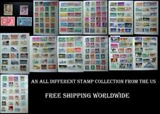 An All Different Stamp Collection From The US, Free Shipping Worldwide