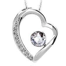 Zumqa 16091-1650 Adorable Heart Necklace w/ Elegent White Swarovski COD PAYPAL