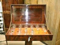 Antique Grand Harmonicon / Glass Harp / Musical Glasses c. 1830, Baltimore, MD