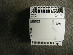 Phoenix Contact Power Supply Cat No STEP-PS/1AC/24DC/2.5 100-240V AC 24V DC 2.5A