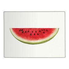 Half Watermelon Clear Glass Chopping Board Kitchen Food Worktop Saver Protector