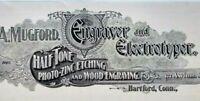 1899 Hartford Connecticut A. Mugford Engraver & Electrotyper Vtg Print Ad