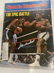 Rare 1975 Muhammad Ali Autographed Signed Sports Illustrated Magazine