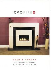 Flueless Gas Fire Contempory CVO designer styling with a Traditional Twist