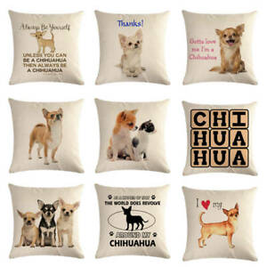 Cushion Cover pet dog chihuahua design  throw pillow covers