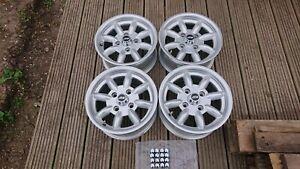 Ford Cortina MK1 MK2 Escort Capri 13x6 Alloy Wheels x 4 Minilight + nuts