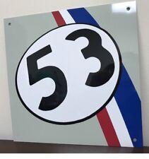 VW Volkswagen Retro Beetle Racing 53 The Love Bug  Herbie Garage Sign