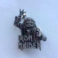 Vintage Iron Maiden Pin Badge, Bruce Dickinson, Heavy Metal,Alchemy, Poker, Rox