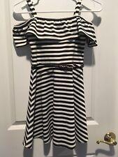 Girls Black White Dress Size 10