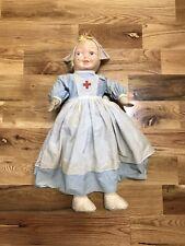Vintage Ww1 Vad Nurse Doll Original Period