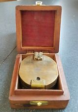 Made for Royal Navy Vintage Stanley London 1941 Brass Compass With Wooden Box