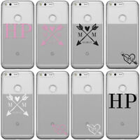 DYEFOR PERSONALISED INITIALS CLEAR / SEE THROUGH PHONE CASE COVER FOR GOOGLE