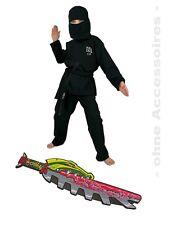 Fries Kostüm Ninja schwarz + Lego Chima Schwert rot  Gr. 140
