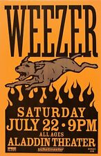 2000 Weezer Aladdin Theater 12 x 16 Reproduction Concert Poster Print