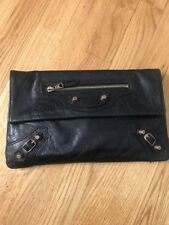 Black Balenciaga Envelope Clutch