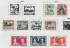 9 Niue Stamps from Quality Old Antique Album 1932-1937